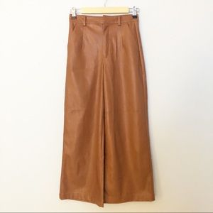 FOREVER 21 FAUX LEATHER WIDE LEG TROUSERS SZ XS